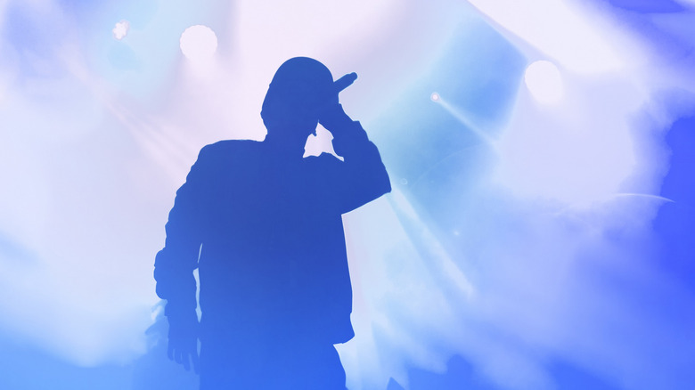 silhouette of rock star