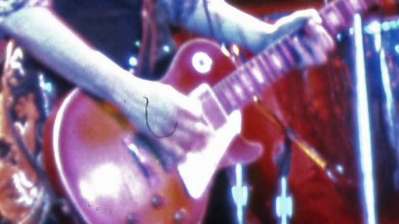 Jimmy Page playing guitar