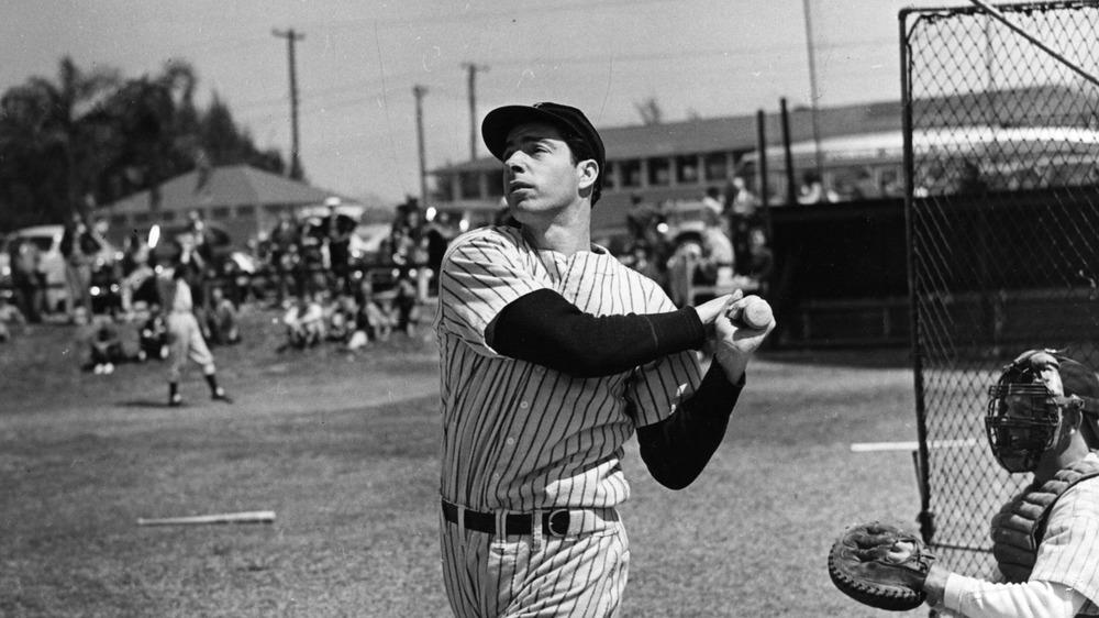 Joe DiMaggio at bat