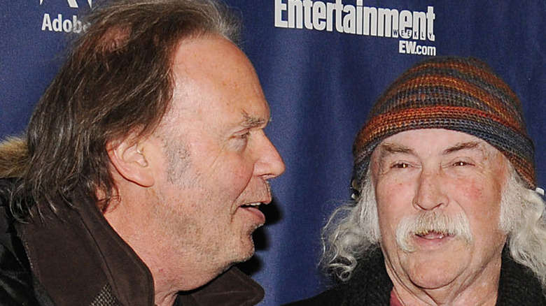 Neil Young and David Crosby at event