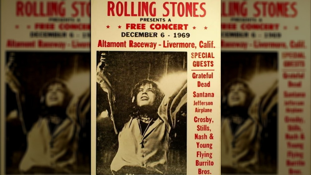 Poster for the Rolling Stones' Altamont concert