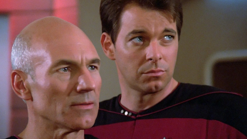 Characters from Star Trek looking concerned