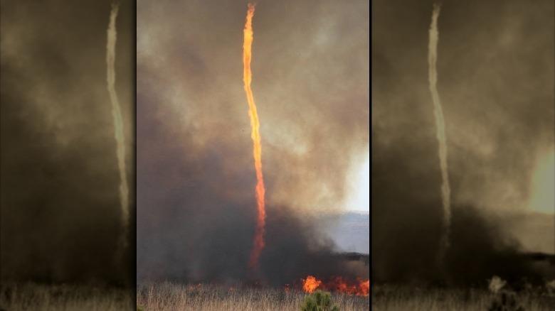 Фото огненного вихря