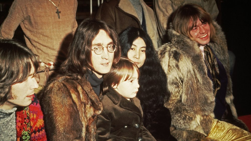Julian Lennon with his father John and Yoko Ono