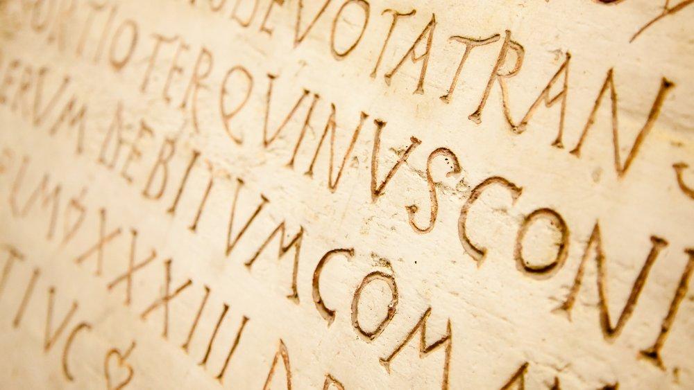 Latin writing on stone