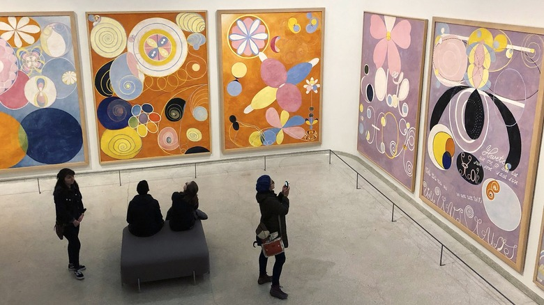 Exhibition view of Hilma af Klint's 'The Ten Largest' at the Solomon R. Guggenheim Museum in New York, 2018
