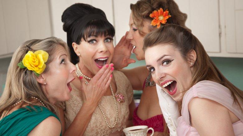 1960s women gossiping