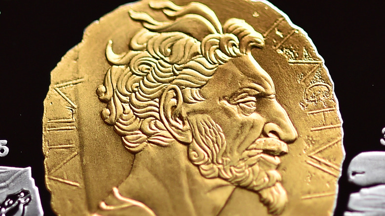 Attila the Hun on Kazakh coin