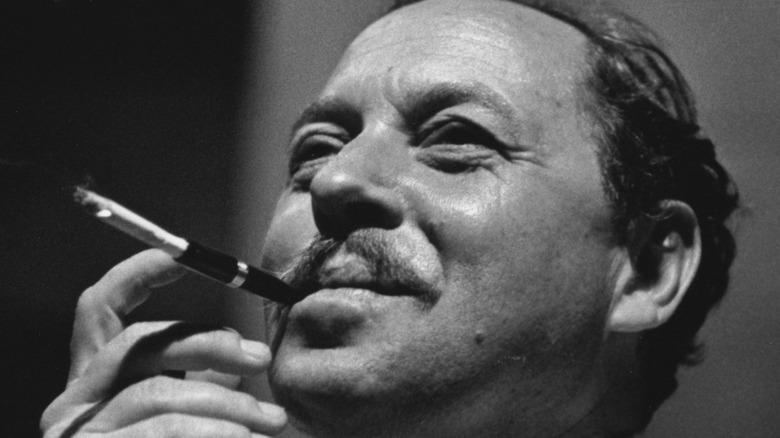 Tennessee Williams smoking