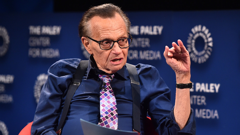 Larry King interviewing