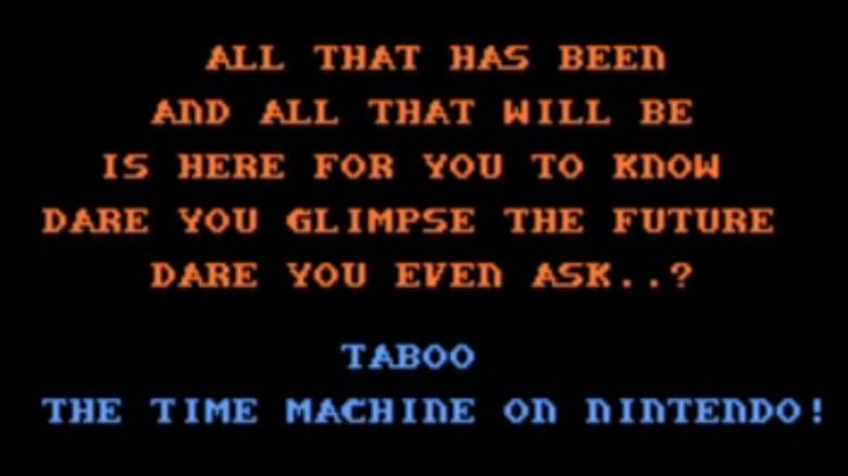 taboo nintendo time machine