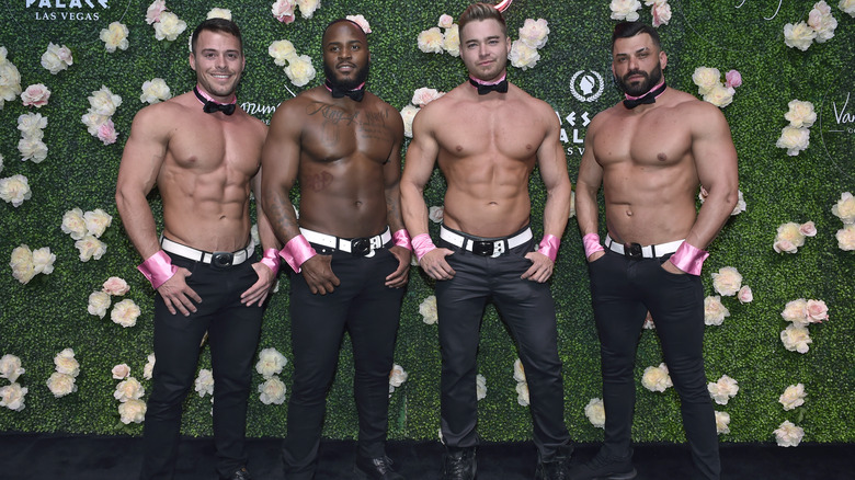 Chippendales dancers smiling
