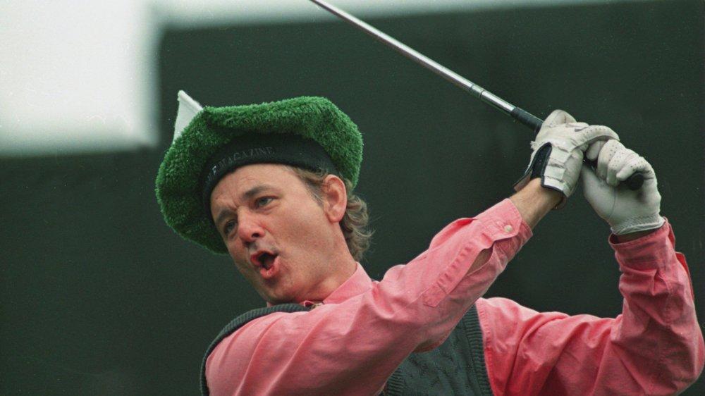 Bill Murray golfing
