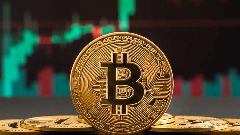 bitcoin and stock market graph