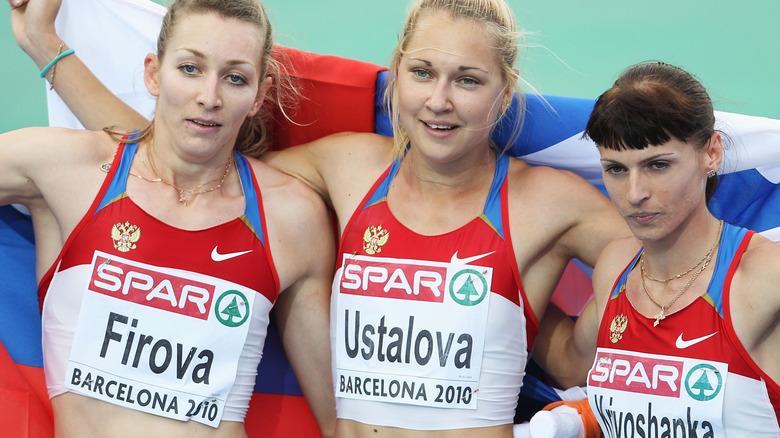 sprinter Tatyana Firova russian gold medalist