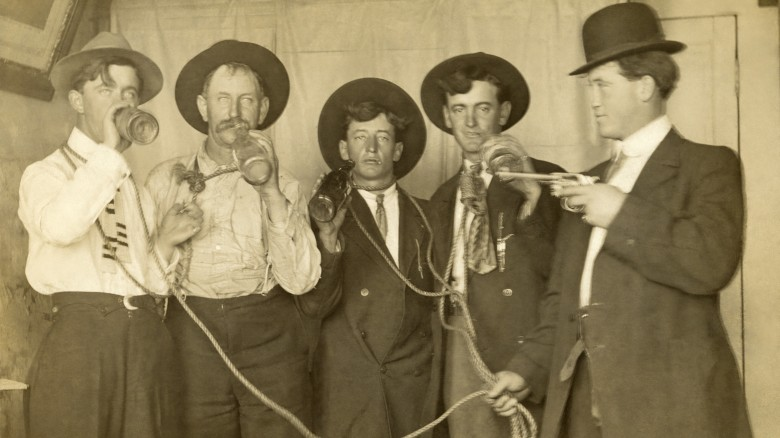 old timey drinking photo