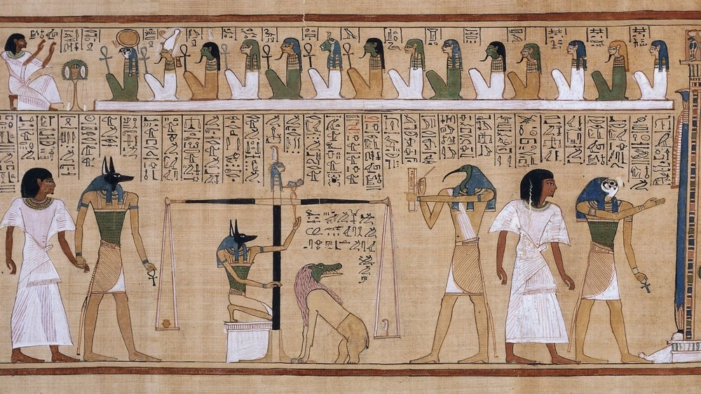 Judgment of the dead hieroglyph