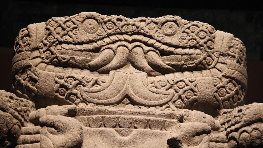 Statue of Aztec goddess Coatlicue