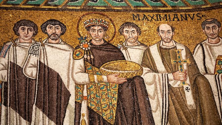 Mosaic of Byzantine Emperor Justinian