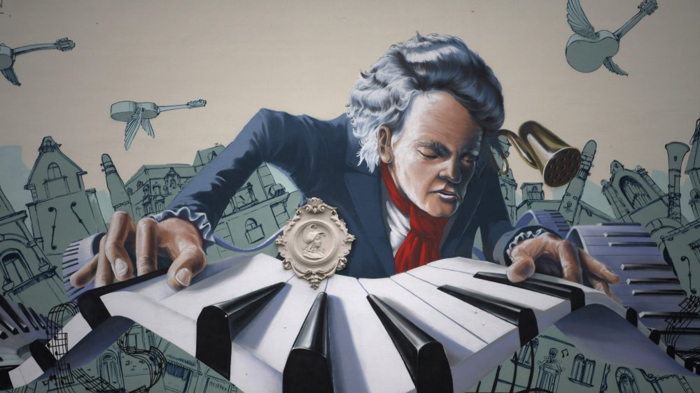 It's a nifty picture of Beethoven
