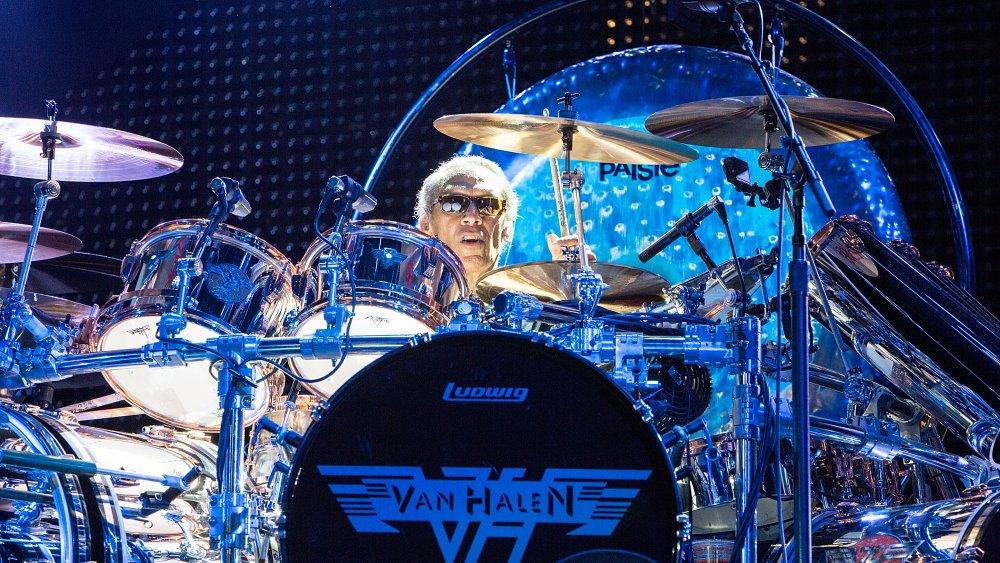 Alex Van Halen on the drums