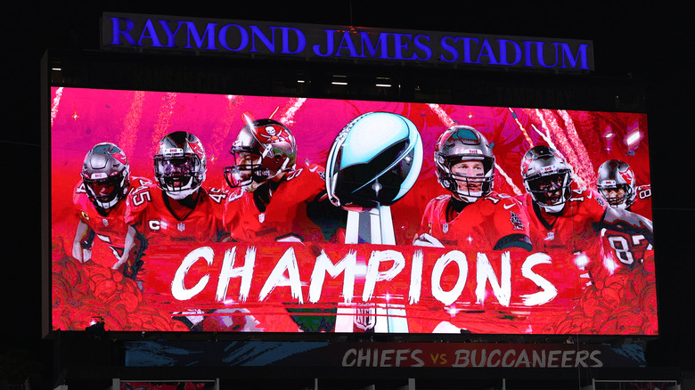 Tampa Bay Buccaneers champions videoboard
