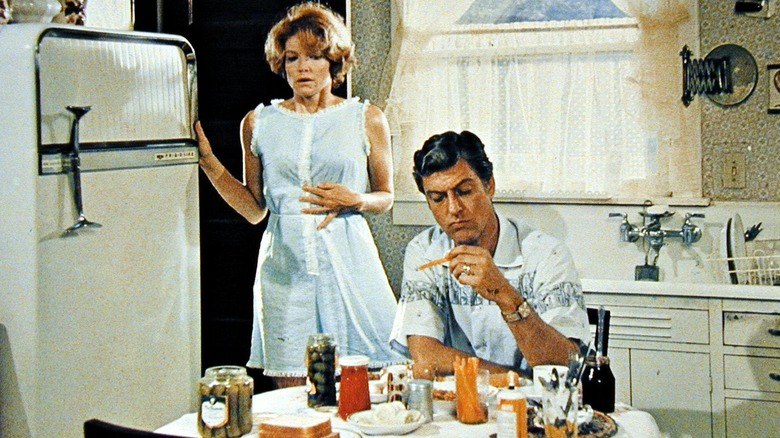 Dick Van Dyke acting, seated in the kitchen