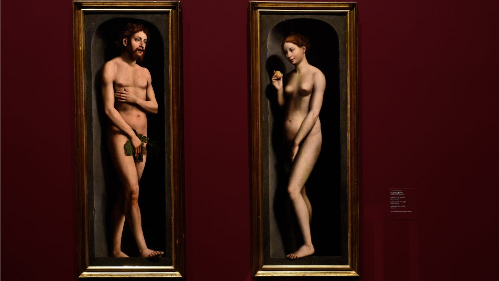 Adam and Eve from the Ghent altar piece