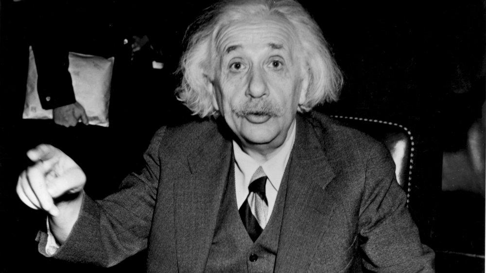 A photograph of Albert Einstein as an adult.