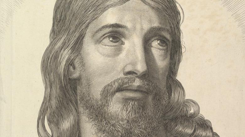 engraving of jesus