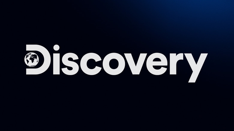 Discovery Channel logo on dark blue background