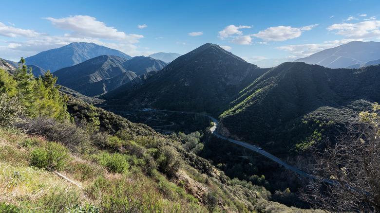 San Gabriel Mountains against sky