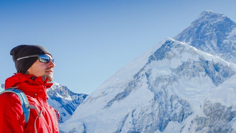 Mount Everest, man