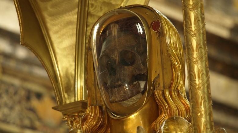 Skull relic of Mary Magdalene
