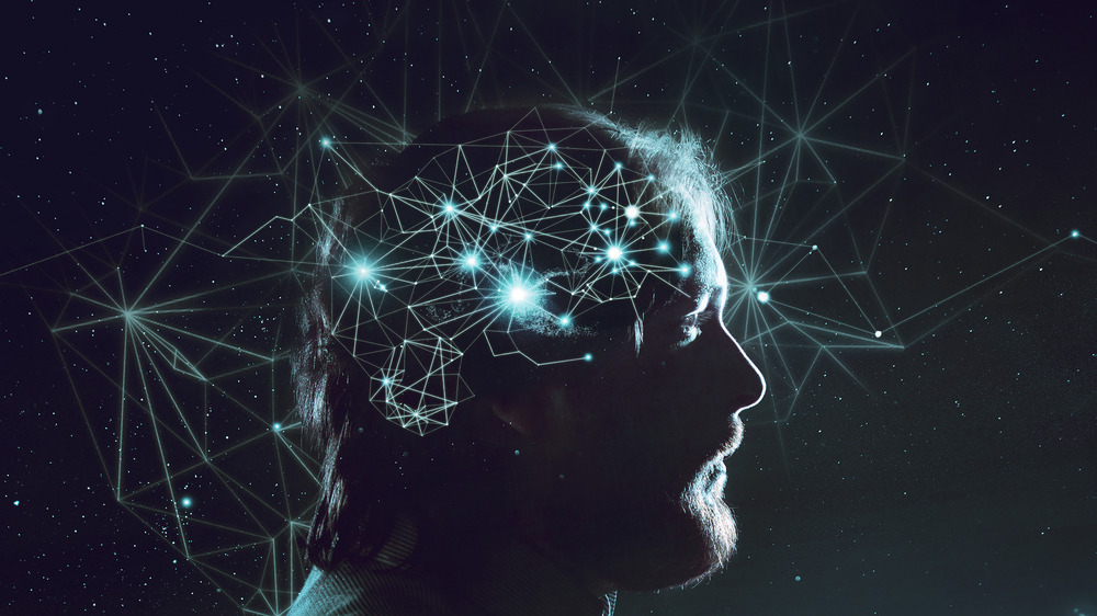 man with brain connections