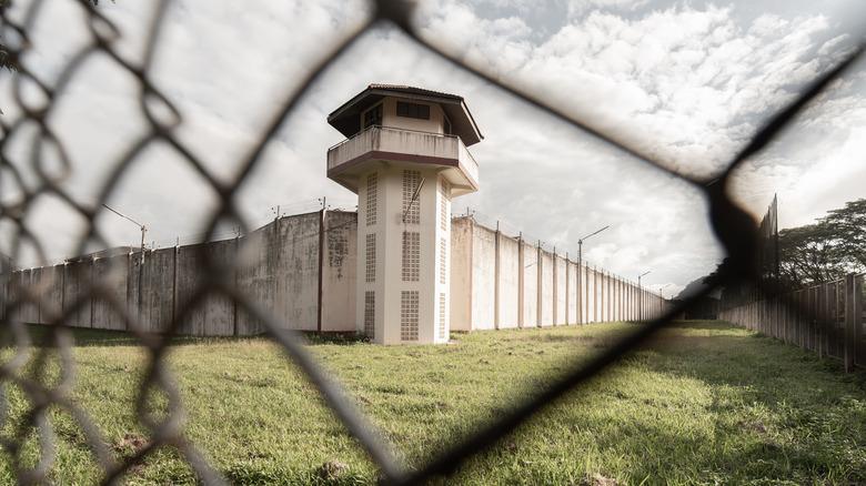 Prison yard outside