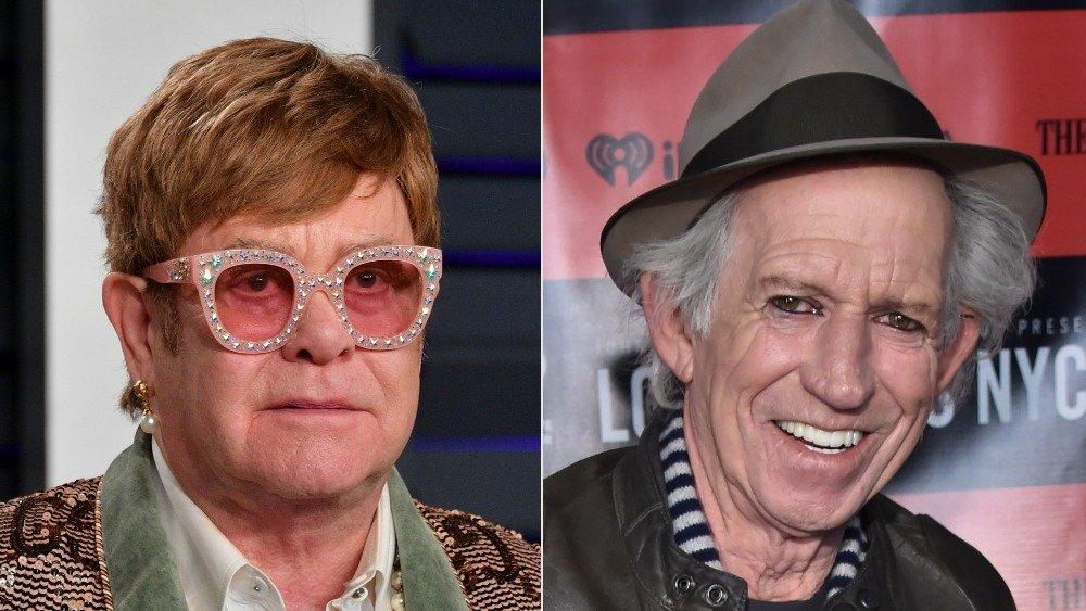 Elton John and Keith Richards