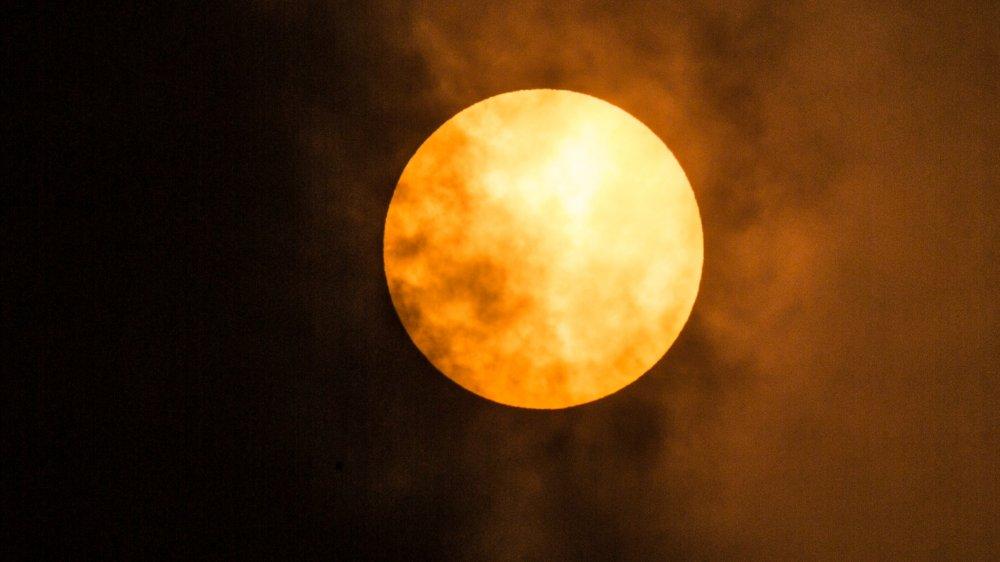 Saharan dust cloud in Mexico