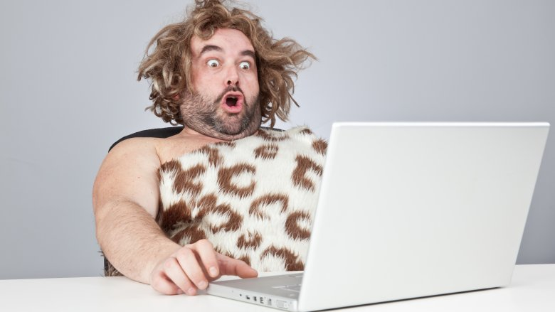 caveman shocked