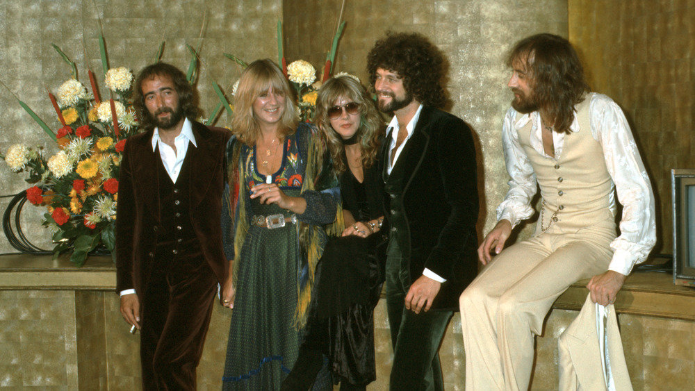 Fleetwood Mac standing and smiling
