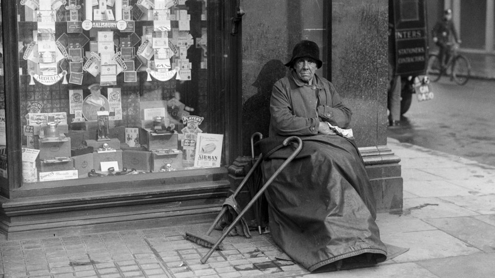 An elderly woman during the Great Depression