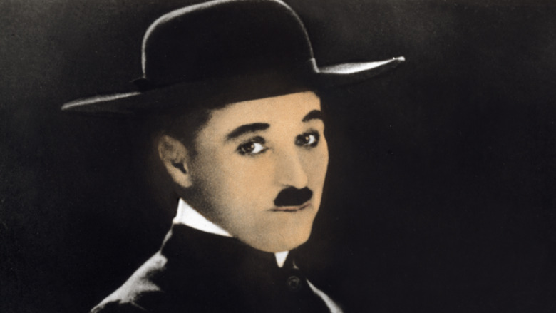 Charlie Chaplin in a hat