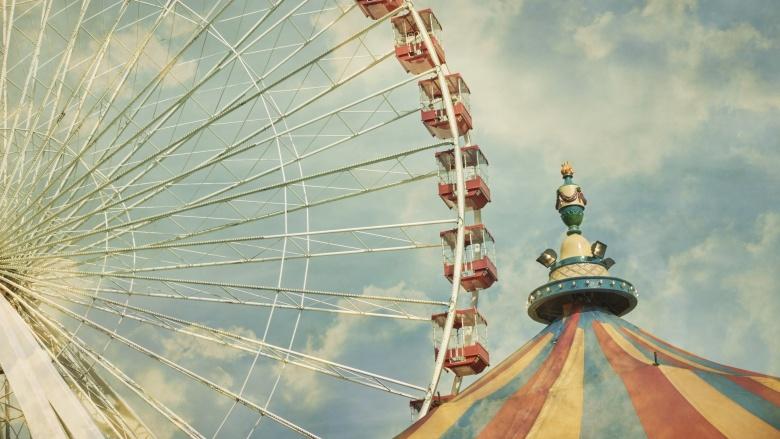carnival tent ferris wheel