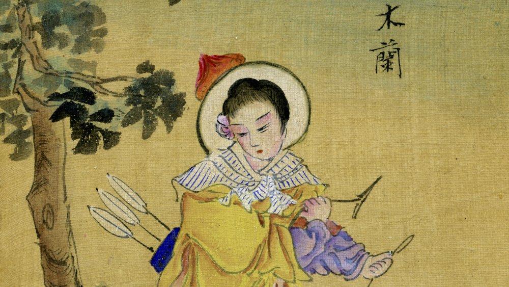Hua Mulan in Traditional Artwork