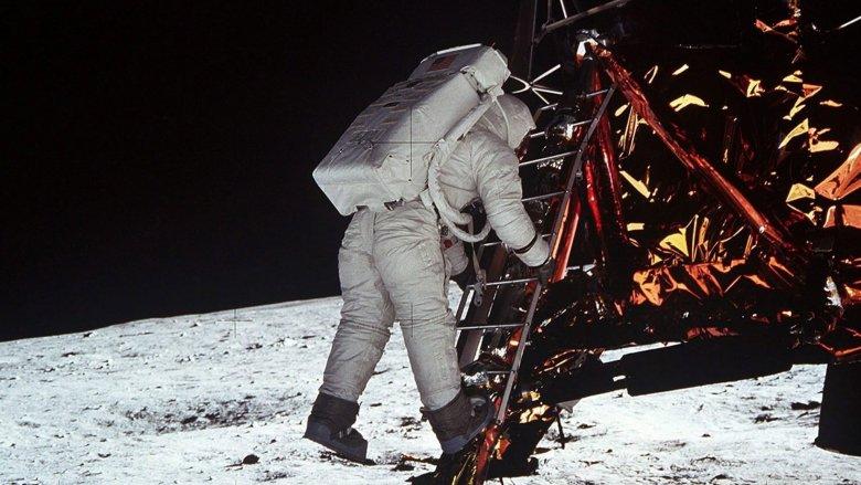 astronaut moon walk