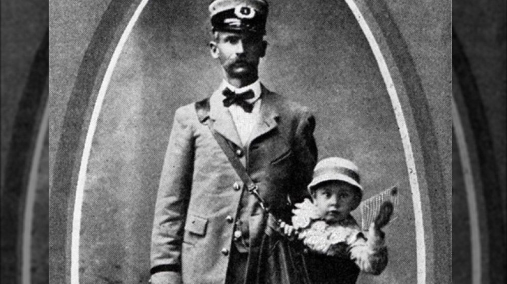 Mailman with baby