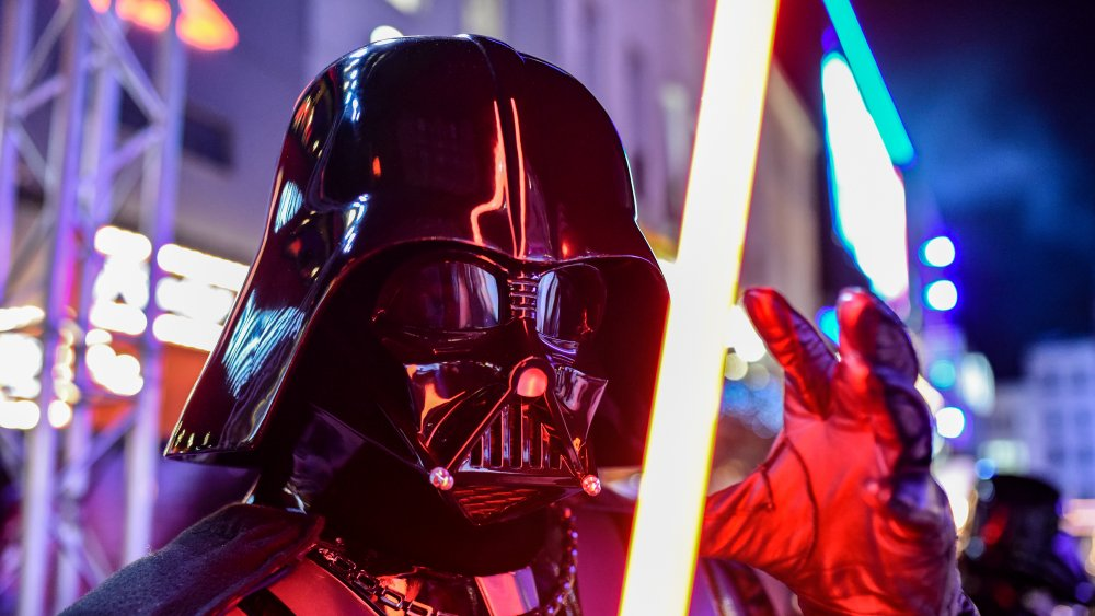 Darth Vader at the premier of Rise of the Skywalker in 2019