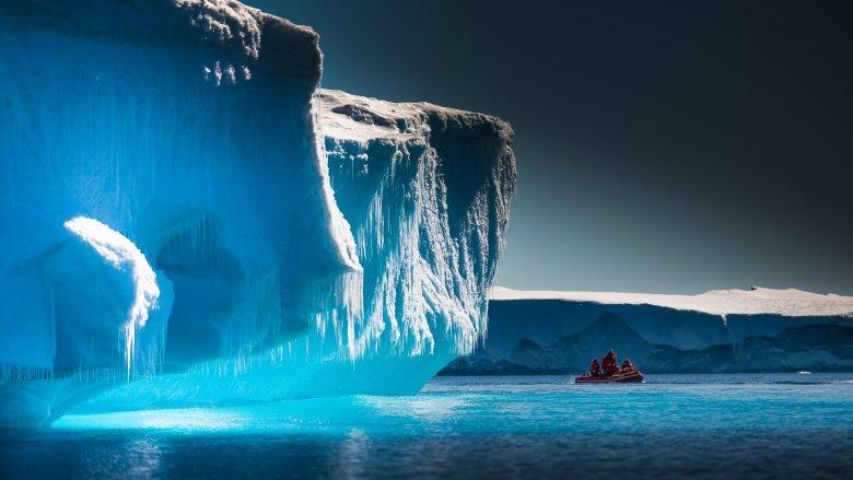 Ice cliff in Antarctica