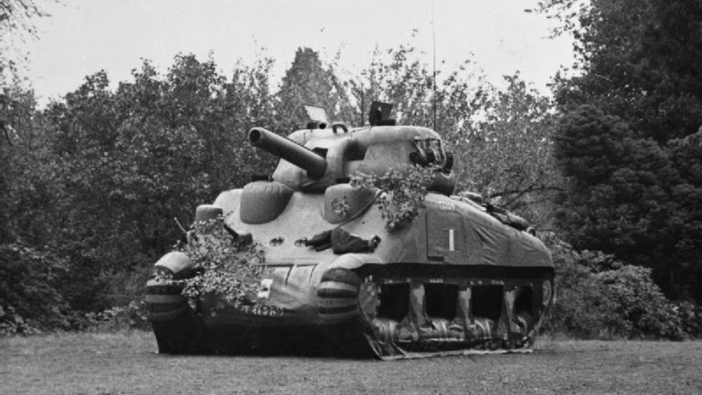 inflatable sherman tank wwii
