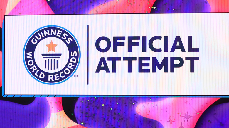 sign for Guinness World Records event